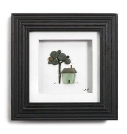 "Fleurish Home A Place to Call Home Pebble Wall Art 6"" Square"