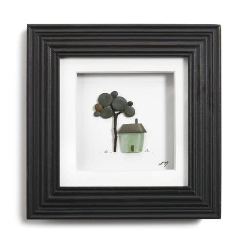 "Fleurish Home A Place to Call Home Pebble Wall Art 6"" Square"