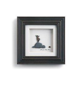 "Fleurish Home The Little Things Pebble Art 6"" Square"