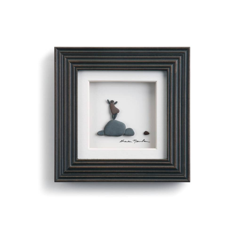 "Sharon Nowlan The Little Things Pebble Art 6"" Square"