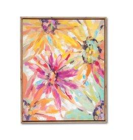 Fleurish Home Crazy Daisy Canvas Wall Art