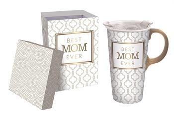 Best Mom Ever Ceramic Travel Mug w Box