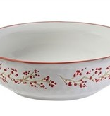 Fleurish Home Holiday Farmhouse Ceramic Serving Bowl