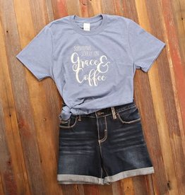 Fleurish Home *last chance* Grace & Coffee Quote Tee