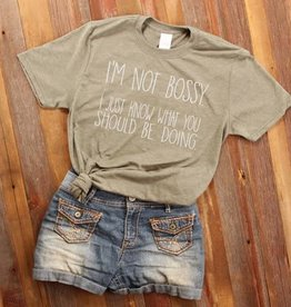 Fleurish Home I'm Not Bossy Quote Tee