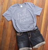 Fleurish Home Faith Over Fear Quote Tee