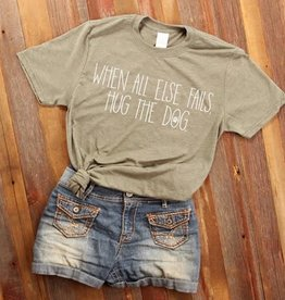 Fleurish Home Hug the Dog Quote Tee
