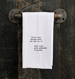 Fleurish Home Quotes Towel Every Week Should Have...
