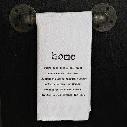 Fleurish Home Quotes Towel Home... .