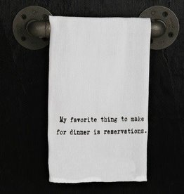 Fleurish Home Quotes Towel My Fav Thing to Make...