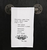 Fleurish Home Quotes Towel Chocolate...The End .