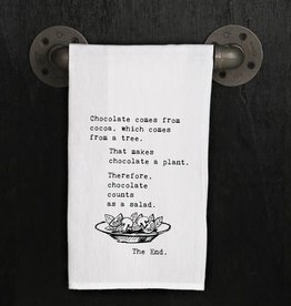 Fleurish Home Quotes Towel Chocolate...The End