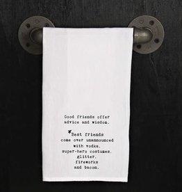 Fleurish Home Quotes Towel Good Friends Best Friends