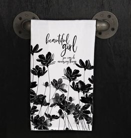 Fleurish Home Quotes Towel Beautiful Girl Amazing