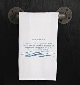 Fleurish Home Quotes Towel Blue Mind