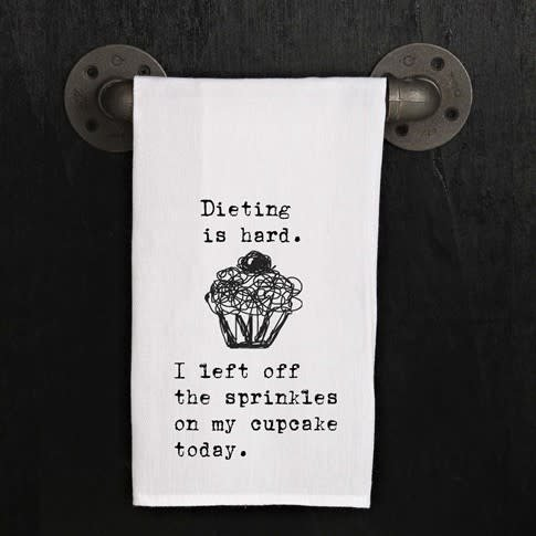 Fleurish Home Quotes Towel Dieting is Hard *last chance