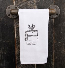 Fleurish Home Quotes Towel Happy Birthday *last chance