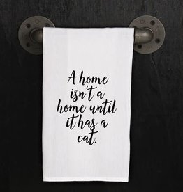 Fleurish Home Quotes Towel Home w Cat