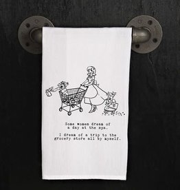 Fleurish Home Quotes Towel Dream of Grocery Alone Retro Louise *last chance