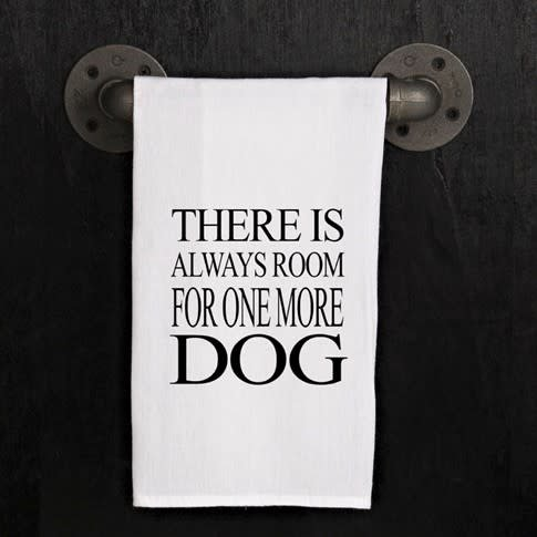 Fleurish Home Quotes Towel One More Dog .