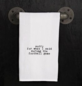 Fleurish Home Quotes Towel Sorry Football Game