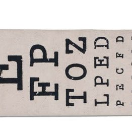Fleurish Home Eye Chart Eye Glasses Case