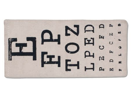 Fleurish Home Eye Chart Eye Glasses Case