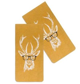 Fleurish Home Buck w Spectacles Eye Glasses Case