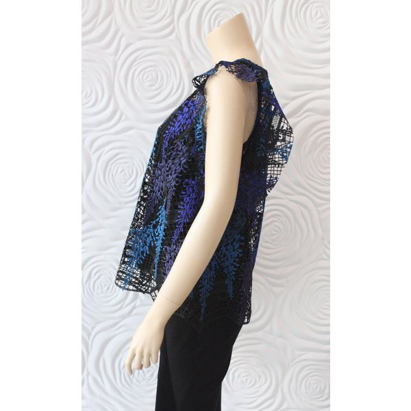 Once Was Amytis Lace Swing Top with Cami in Blue