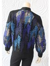 Once Was Amytis Lace Bomber Jacket in Blue