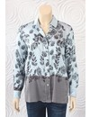 Max Volmary SIlk Button Down Blouse With Sparkle Trim