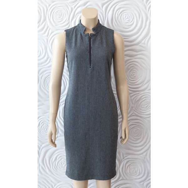 209 West Sleeveless Striped Dress
