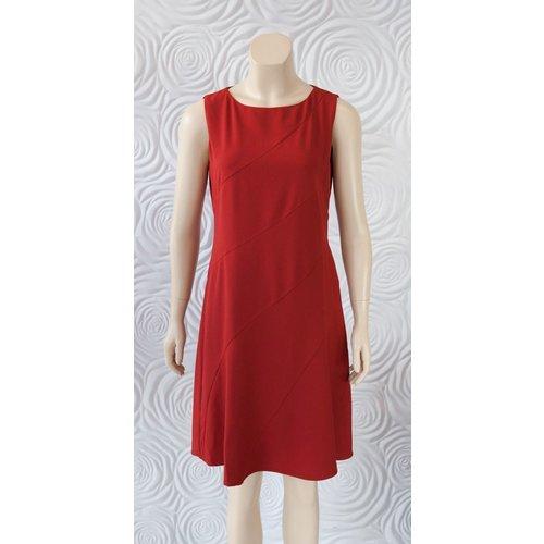 Donna Degnan Donna Degnan Solid Spiral Dress