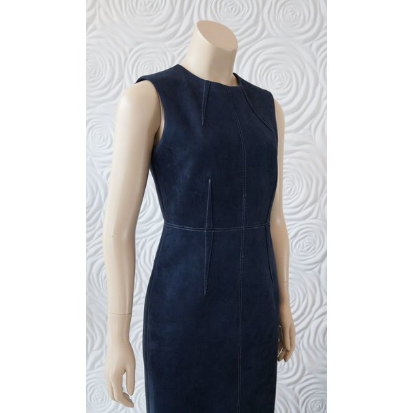 Donna Degnan Suede Sheath Dress