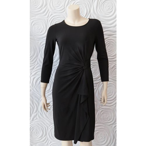 Iris Iris Dress with Half Belt in Jersey Fabric