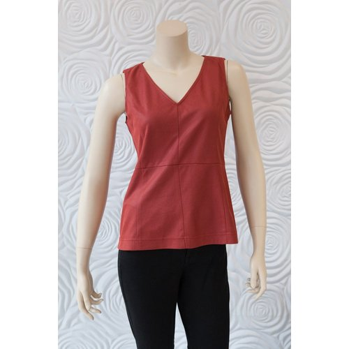 209 West 209 West V-neck Blouse with Slight Peplum