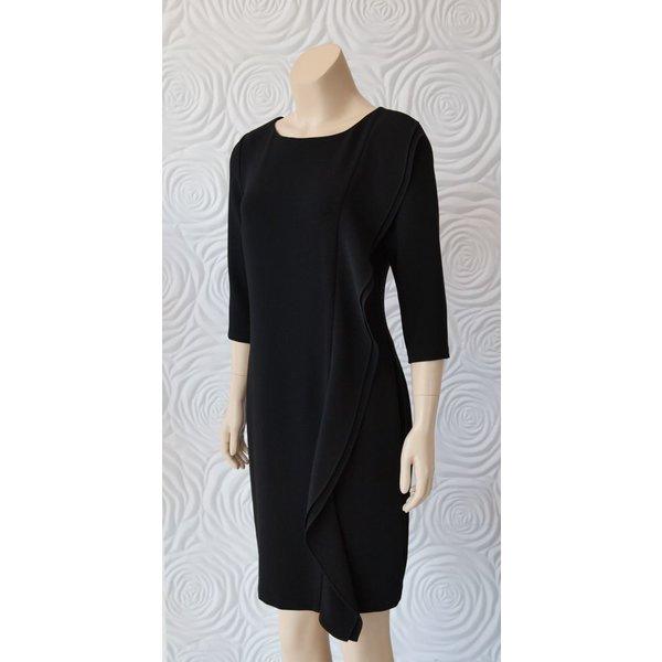Minan Wong Darted Dress with Cascading Ruffle