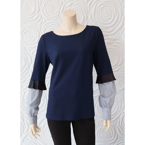 Minan Wong Minan Wong Knit Shirt Blouse with Scoop Neck
