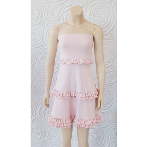 "Susana Monaco Susana Monaco Strapless Tiered Flare Dress 20"""