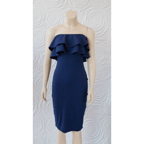 Susana Monaco Susana Monaco Strapless Double Ruffle Dress 30""