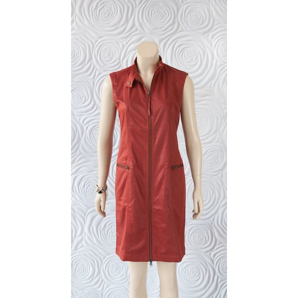 209 West Sleeveless Dress with Zipper Pockets