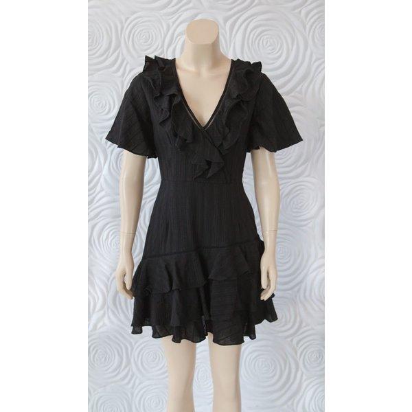 Shilla Exotic Lace Ruffle Dress