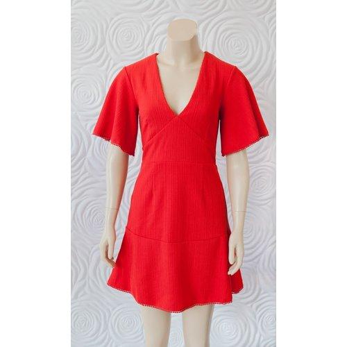Shilla Shilla Exotic Wing Sleeve Dress