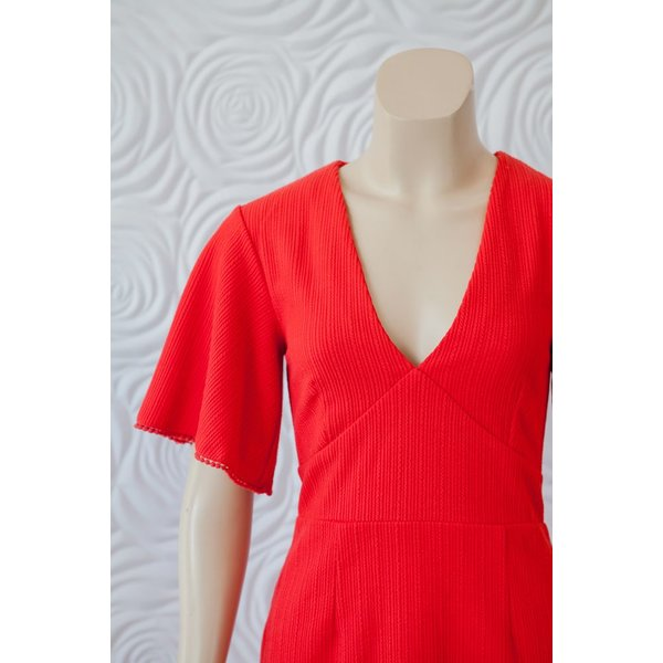 Shilla Exotic Wing Sleeve Dress