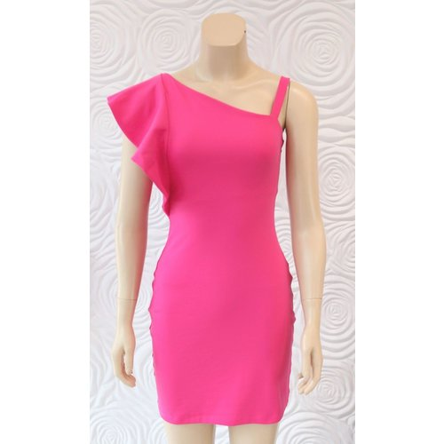 Susana Monaco Susana Monaco Ruffle Side Shoulder Dress