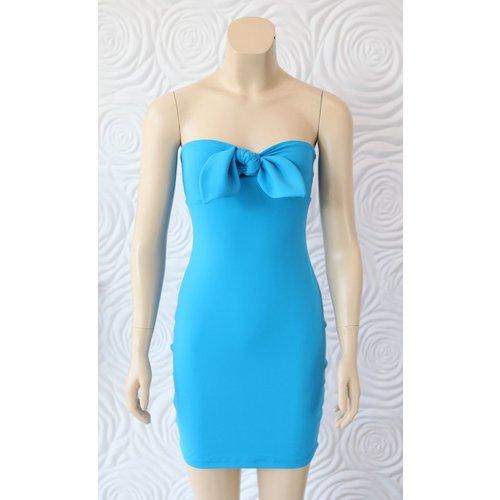 Susana Monaco Susana Monaco Bow Front Strapless Dress