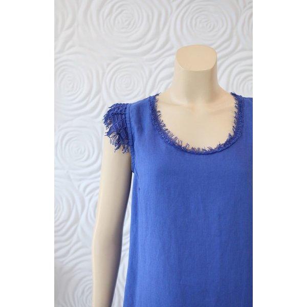 Haris Cotton Sleevelss Linen Dress