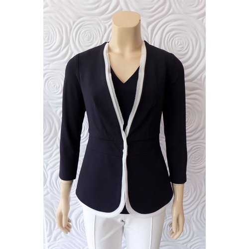 Iris Iris Jersey Knit Jacket With Trim Detail