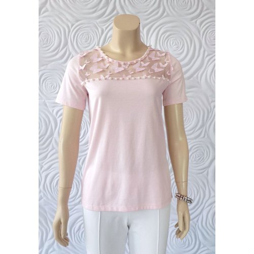 Passioni Passioni Sheer Detail Top With Butterfly Detail