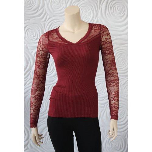 Rosemunde Rosemunde Silk Shirt With Lace